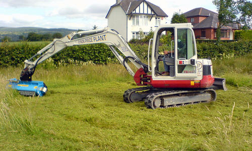 Flail Mowers for grass and branches, for mini-excavators