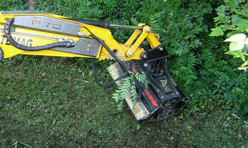 Mid-forestry mowers for spider excavators