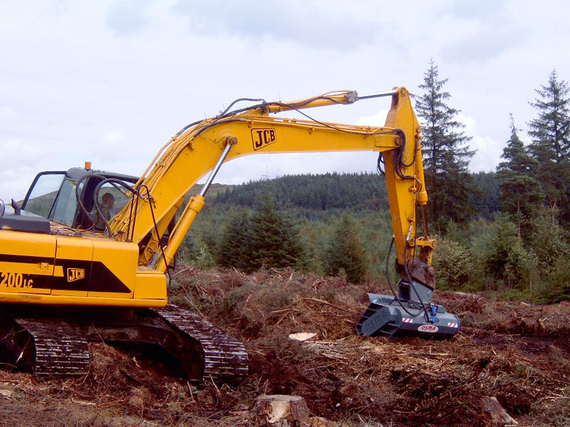 Forestry mowers for excavators - TFS